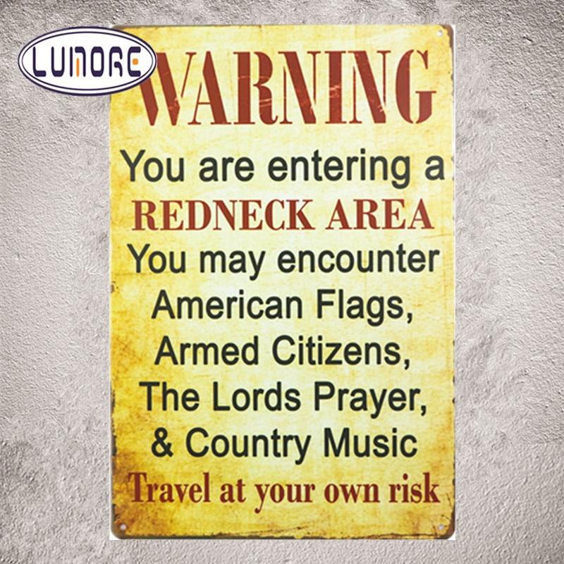 Предупреждение вы входите быдло области вы можете столкнуться забавные металлическая банка знак Книги по искусству плакат