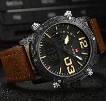 Analog Led Digital Watches Leather Men Sports