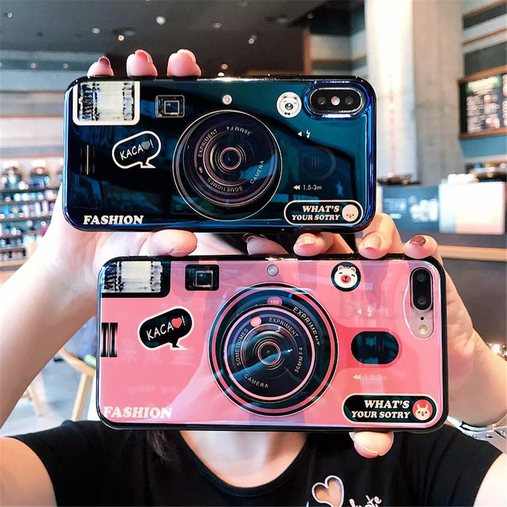 Blu-Ray Camera Case For Samsung Galaxy S11 S10 Plus Lite A51 A71 A50 A70 A30 A20 A70s A50s A30s With Lanyard Stand Holder Fundas