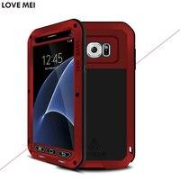 Original Love Mei Metal Aluminum Dirt Waterproof Powerful Case Cover For Samsung Galaxy S7 G9300 Cell