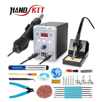 Handskit Soldering Staiton 8586 2 in 1 Hot Air SMD Bga Rework welding station 220V portable Best Soldering Station Welding Tools
