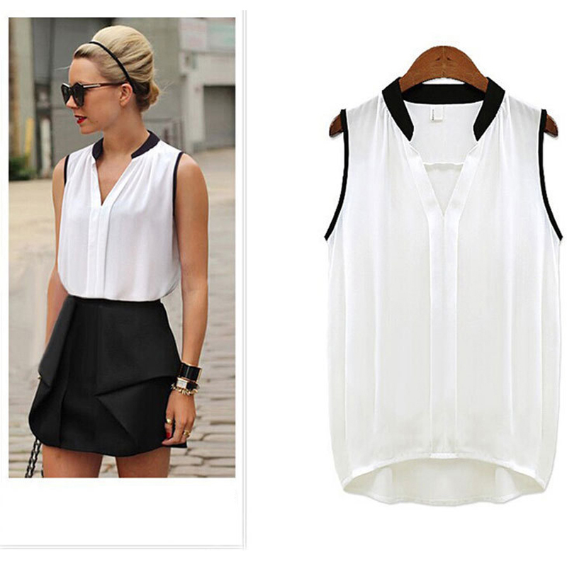 Summer Style   Blouse   Women Fashion White Chiffon Elegant   Shirt   Female Work Wear Office Ladies OL Tops Women Clothing