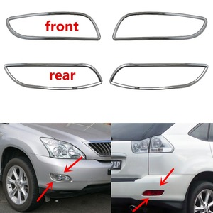 Image 1 - For Lexus XU30 RX330 RX350 2003 2008 Fog lamps cover Trim ABS Chrome 4pcs Front Rear fog light cover car styling accessories