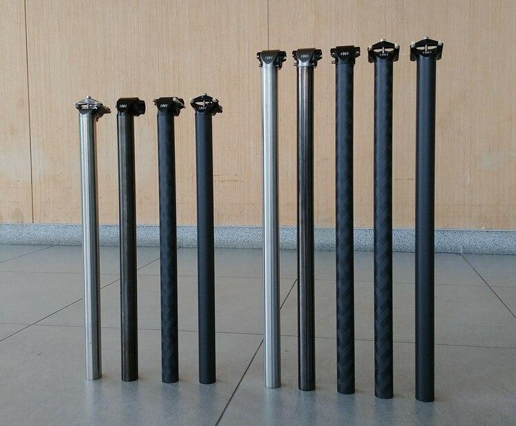 (H&H)   Titanium / Carbon for brompton seatpost 520mm