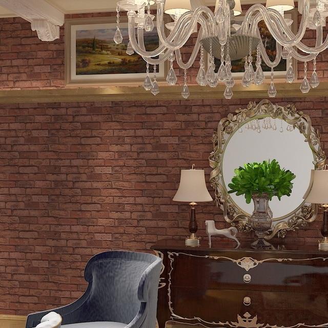 7 Farbe Schwarz Backsteinmauer Und Weiße Ziegel Tapete Ziegelsteinmuster 3d  Tapete Wohnzimmer Italienische Geprägten Backsteintapete in 7 Farbe ...