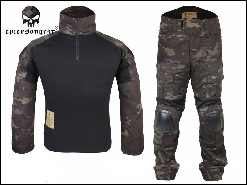 Tactical Military Uniform Clothing Army Camping Combat Jersey Shirt +Pants With Knee Pads Camouflage Hunting Coat Clothes military uniform multicam army combat shirt uniform tactical pants with knee pads camouflage suit hunting clothes