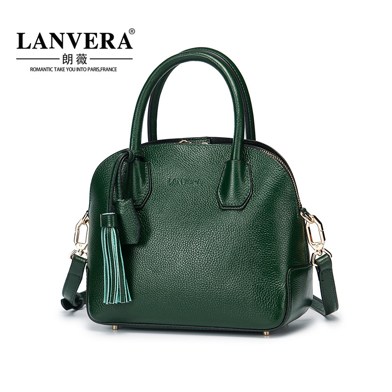 Head layer cowhide fashion elegant tassel shell bag 2017 new leather shoulder messenger bags felyby karaoke mixer tv k song k song karaoke tv karaoke multi functional analog sound console