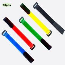 10 pçs/lote 2cm * 30cm fivela reversa de náilon velcros magia gancho laço prendedor cabo laços velcroing cinta pegajosa linha acabamento