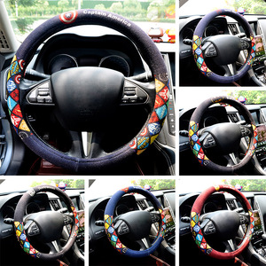Cartoon Car Steering Wheel Cov