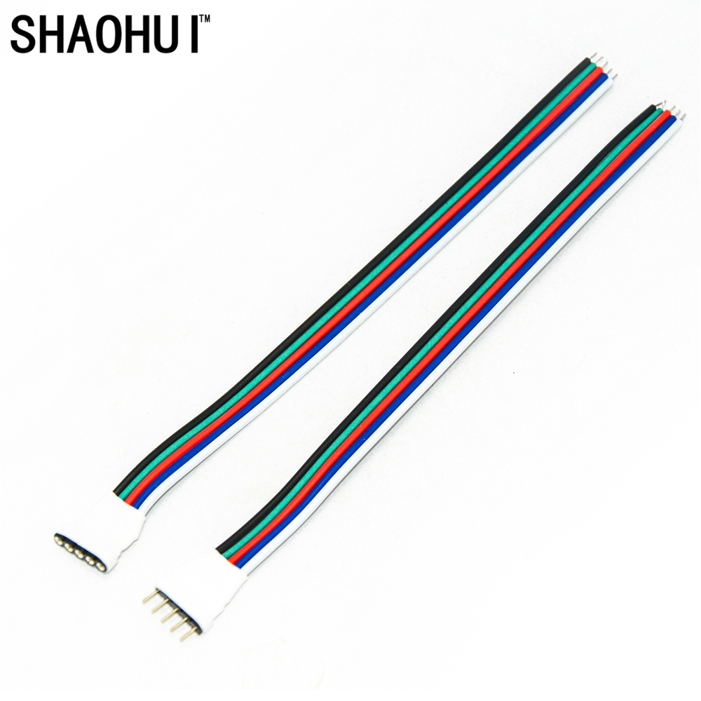 10 pairs 5 pin Male And Female LED Connector With 15cm length Cable Cord For 5050 RGBW RGBWW LED Strip Light Free Shipping free shipping super wide u shape aluminum anodized profile for led strips with cover and end caps for dual row led strip