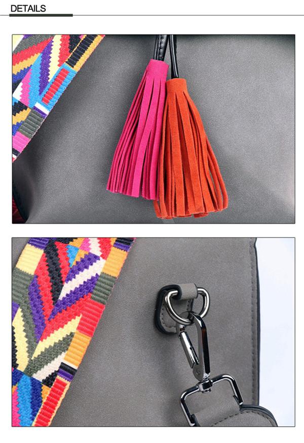 EXCELSIOR Women's Bag Scrub PU Crossbody Bags Luxury Handbags Women Bags Designer bolso mujer Colorful Strap sac a main femme 6