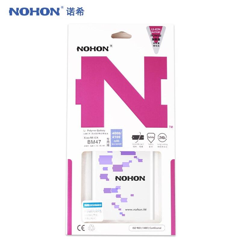 BM47 NOHON Bateria Original Para Xiaomi Redmi 3 3 S 3X 4X Baterias de Substituição 4100 mAh Alta Capacidade De Polímero De Lítio Bateria