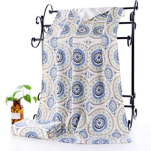 Thicken Round Printing Bath Towel Bamboo Microfiber Soft Antibacterial European and American Style Drop Shipping