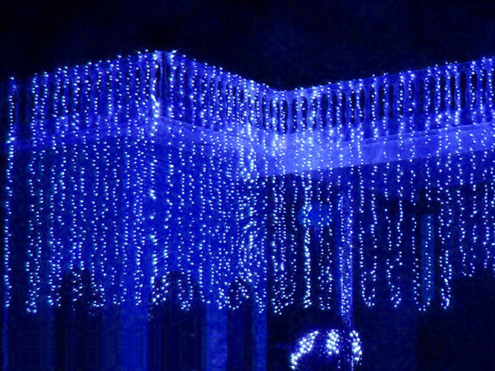 3mx3m 360led waterfall led string outdoor christmas wedding curtain 3mx3m 360led waterfall led string outdoor christmas wedding curtain fairy lights lamps new year decoration ac220v luminaria in led string from lights aloadofball Image collections