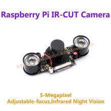 Big sale Raspberry Pi 3 Camera IR-CUT Webcam 5-MegaPixel 1080p Night Vision Better Image in Day and Night for all revisions of Pi