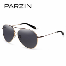 PARZIN Cool Pilot Sunglasses For Driving High Quality Alloy Frame Coating Mirror Polarized Sun Glasses Fashion Accessories