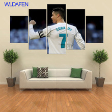 5 Panel C Ronaldo Real is Madrid Canvas Printed Painting For Living Picture Wall Art HD Decor Modern Artworks Football