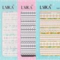 Ver detalle LSIKA WAVE-2 Más Nuevos DISEÑOS de oro y plata 1 unidades láser 3d nail art stickers nail art decal stampingwholesale