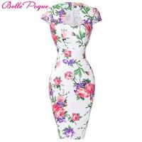 Sommer Kleid 2017 50 s Vintage Frauen Sexy Kleider Party Club Mantel Plus Größe Vestidos Floral Bodycon Frauen Bleistift kleid