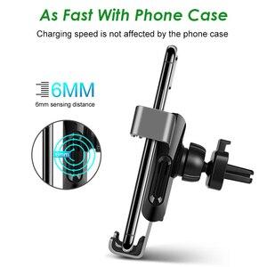Image 4 - Arvin Auto Telefon Halter Drahtlose Ladegerät Stehen Für iPhone X XR Samsung Automatische Intelligente Schwerkraft Verknüpfung Schnell Ladegerät Montieren