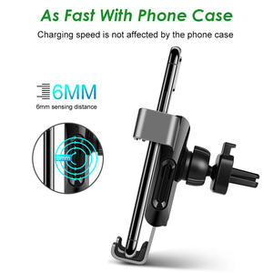 Image 4 - Arvin Car Phone Holder Wireless Charger Stand For iPhone X XR Samsung Automatic Intelligent Gravity Linkage Quick Charger Mount