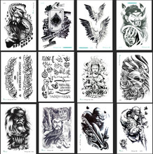 LC horror style Waterproof Tattoo Sticker Cool Fashion Skull Temporary Arm Leg Body Art Makeup Skin Beauty Design