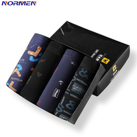 NORMEN 2018 New Fashion Boxers Men Model Comfortable Printed Sexy Underwear Breathable Gay Trunks Man Hot Sale
