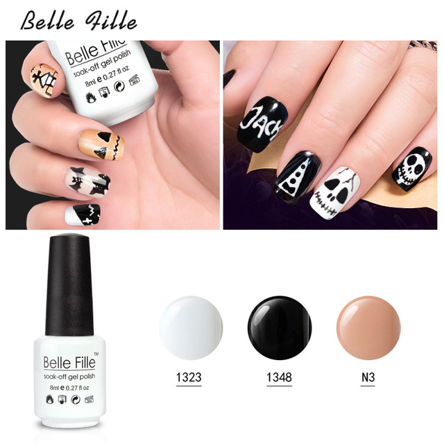 Belle fille 15 color halloween nail art gel nail polish nail gel belle fille 15 color halloween nail art gel nail polish nail gel polish long lasting prinsesfo Gallery