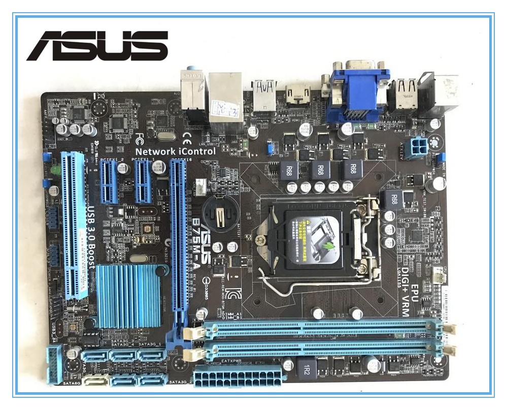 Free shipping ASUS original motherboard for B75M-A LGA1155 DDR3 for I3 I5 I7 22/32nm cpu 16GB USB3.0 B75  Desktop motherboard original motherboard for asus p8h77 v le ddr3 lga 1155 for i3 i5 i7 cpu usb3 0 32gb h77 desktop motherboard free shipping