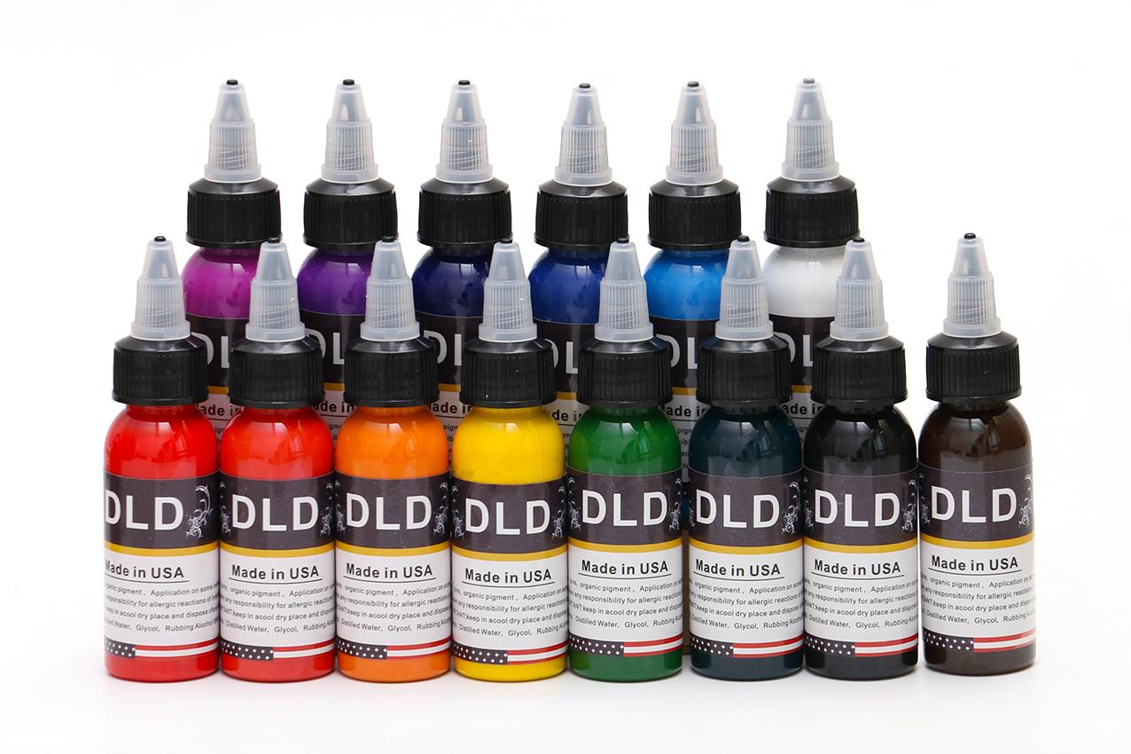 High quality permanent Tattoo Ink 14 Colors Set 30ml Bottle Tattoo Pigment Kit Body Art Painting InkHigh quality permanent Tattoo Ink 14 Colors Set 30ml Bottle Tattoo Pigment Kit Body Art Painting Ink