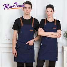 Polyester Cotton Apron 2019 fashion Coffee Shop Barista Hairdresser Sleeveless Work Cooking Clothing Antifouling