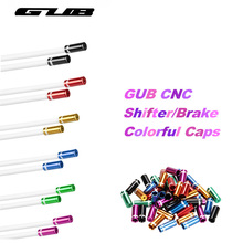 GUB 100pcs Set 4mm Mountain Road Bike Bicycle Cycling MTB Shifte Wire Cable Line Gear Shift Bike Cable Cap Cover Sets Kit Caps