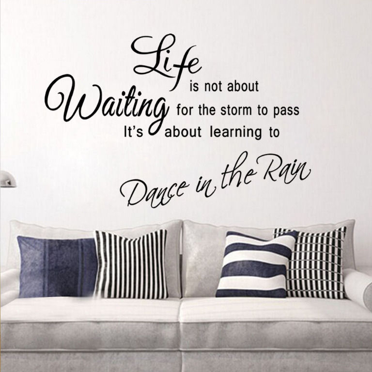 Wall Art Quotes Dance In The Rain : New arrival wall art dance in the rain life quote