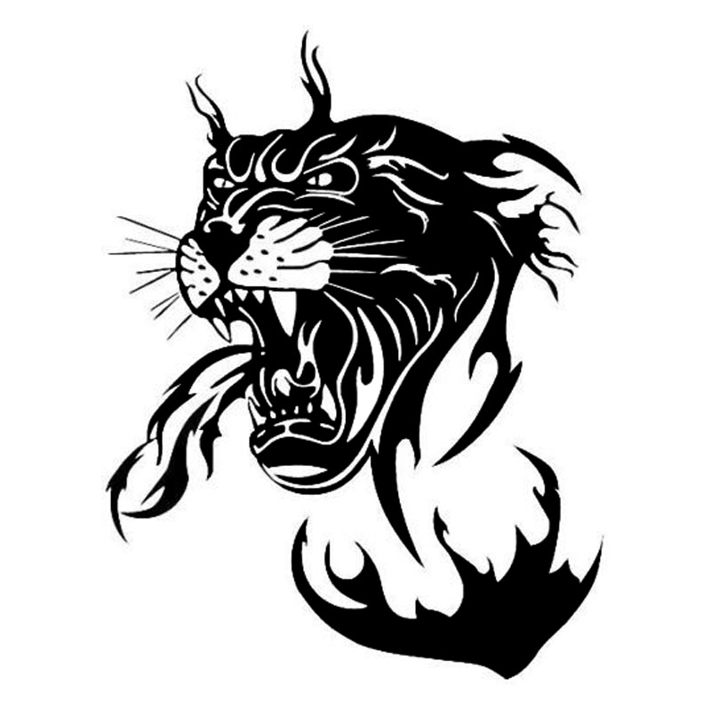 15 6 20CM Amazing Panther With Flame Car Sticker