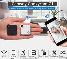 Wireless IP Wearable Mini WIFI Camera P2P Sporting Camcorder DV DVR HD 720P H.264 For Home Sport Security Monitoring