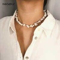 IngeSight. Z Einfache Minimalistischen Choker Halskette Kragen Erklärung Böhmen Weiß Natürliche Stein Schlüsselbein Kette Halskette Frauen Schmuck