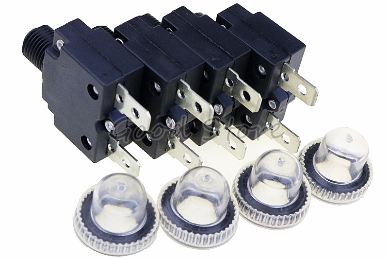 Выключатель + водонепроницаемая крышка 3A,4A,5A,6A ,7A,8A,10A,15A,18A,20A,25A ,30A тепловой переключатель защита от перегрузки кнопка