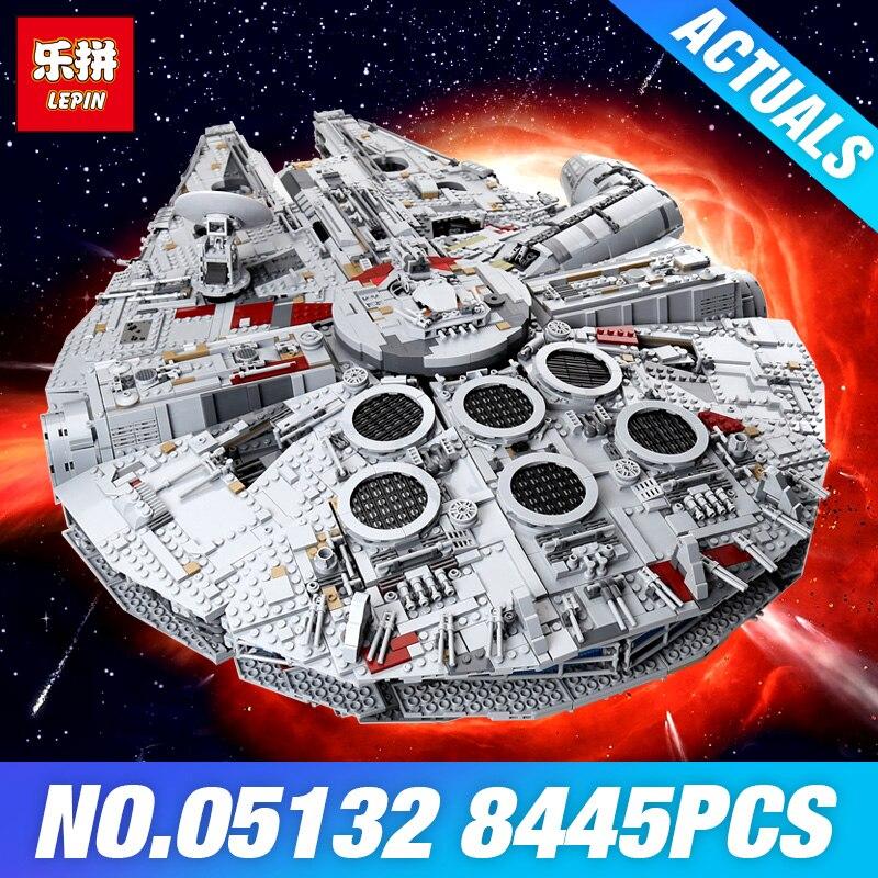 Лепин 05132 Star серии план 75192 Сокол Тысячелетия Ultimate Коллекционная модель Разрушитель здания Конструкторы кирпичи игрушечные лошадки войны п