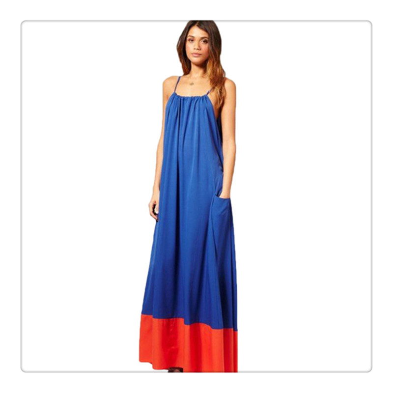 9484243ba2 Online Shop New Women Summer Sleeveless Long Maxi night Dress Beach Dresses  Sundress patchwork strap ankle-length dress