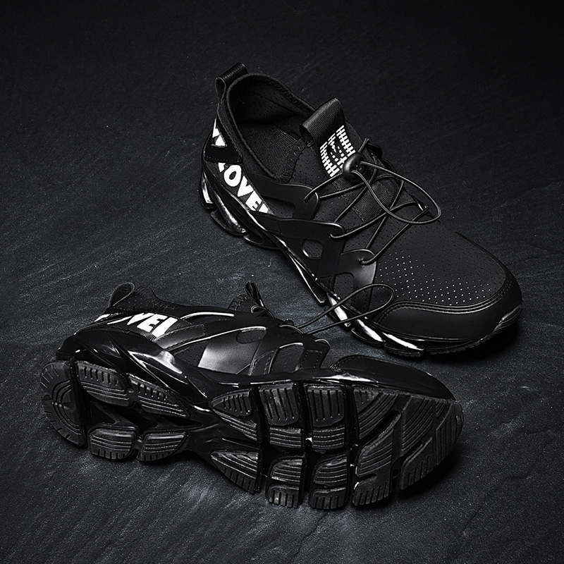Mode Porter Hommes Respirant Vamp Lycra Chaussures Black Sport white À Créer Et Duce Ceinture Élastique Facile Couteau Confortable tqBwA7