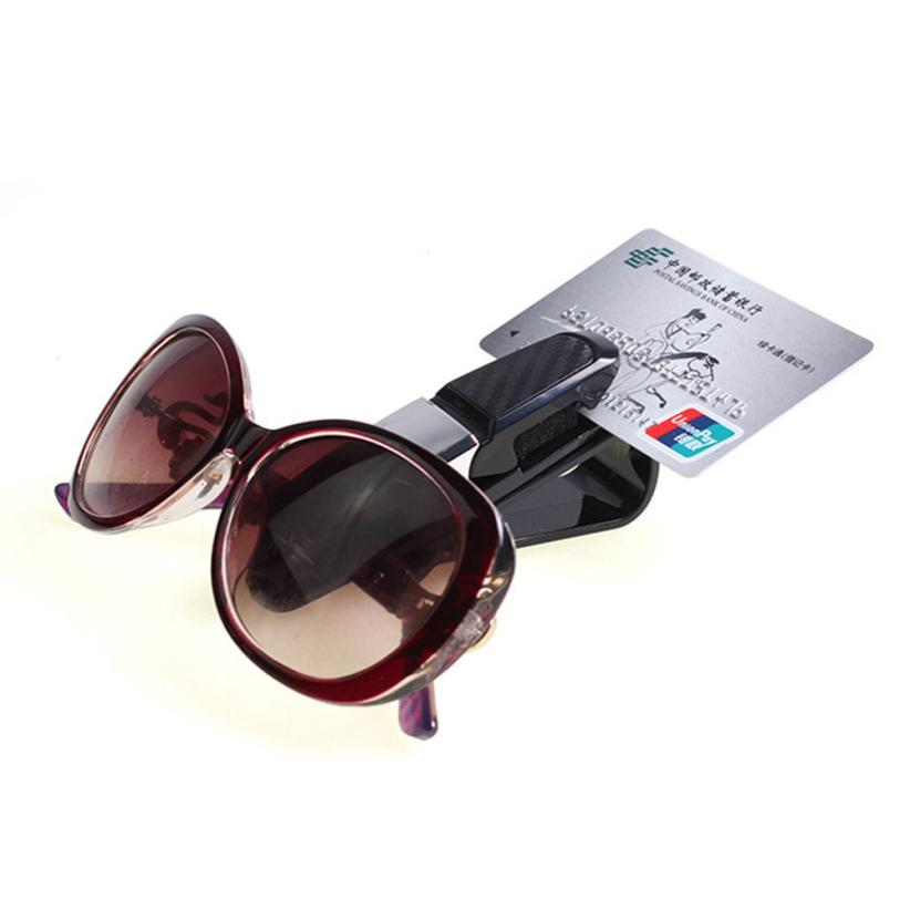 Car Auto Sun Visor Clip Holder For Reading Glasses Sunglasses Eyeglass Card Pen wholesale 2017 jun26