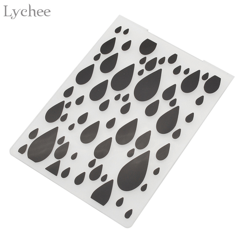 Lychee Plastic Embossing Folder Scrapbook DIY Album Tool Card Plastic Șablon de ștampilă Card Efectuare Decorare Raftrop neregulat