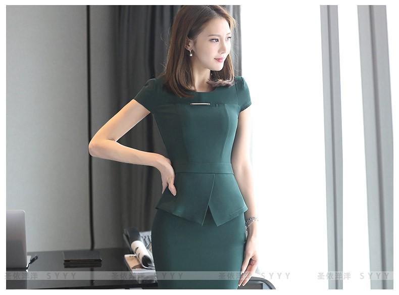 4108682d462 S 3XL Women s T Shirt Skirt Suits Summer 2016 Fashion Elegant Office ...
