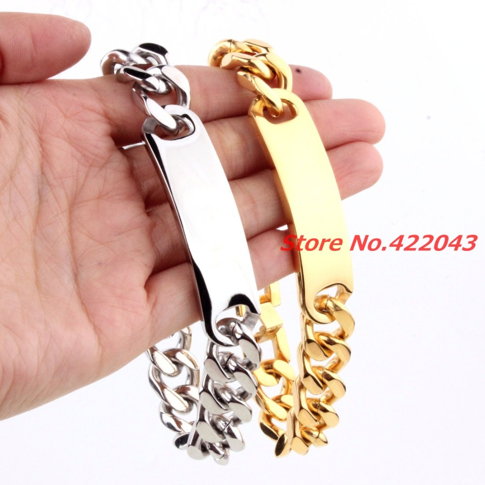 2c3d15de9dfebe New Mens Bracelets Stainless Steel Greece Key ID Silver Gold Bracelet for  Men Curb Cuban Chain Fashion Jewelry Bold and Chunky-in Chain & Link  Bracelets ...