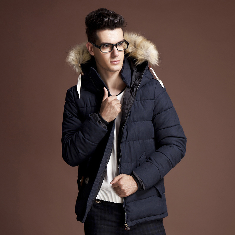 New Parka Men Homme 2016 Winter Fashion Big Fur Hooded Design ...