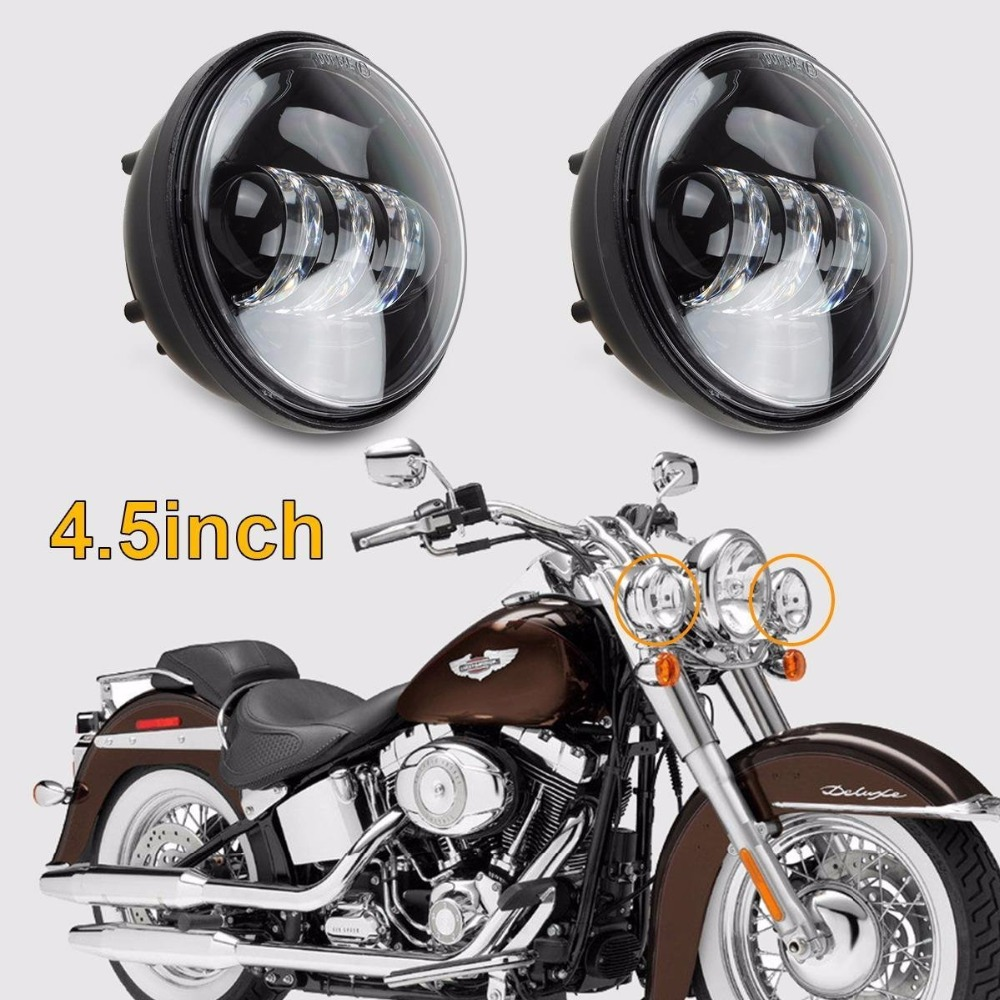 Touring Road King 883 Sportster 5.75 Inch Led H4 Headlight Headlamp Halo Ring White Drl Angel Eye For Harley 883 Iron Softail