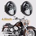 "4.5""inch 4 1/2"" Front Round Fog Light  LED Auxiliary Spot Passing Driving Lamp Projecot Lights for Harley Davidson Daymaker"