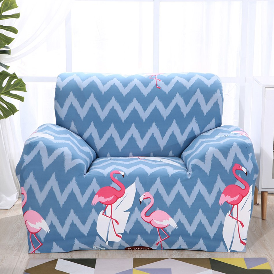 Pleasant Us 14 35 59 Off Tropical Style Universal Blue Stripes Elastic Sofa Covers Flamingo Pattern Stretch Couch Corner Sofa Slipcovers For Living Room In Bralicious Painted Fabric Chair Ideas Braliciousco