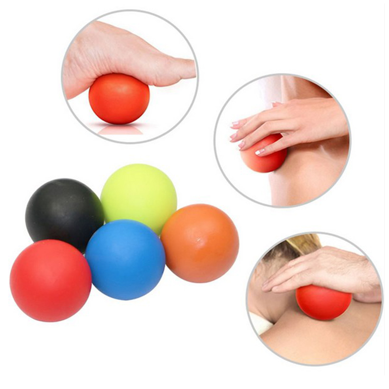 5 Colors Massage Lacrosse Roller Ball Trigger Point Exercise Sports Yoga Ball Muscle Relax Relieve Fatigue Roller kifit modern gym exercise fitness floating point eva yoga foam roller physio trigger massage health beauty tools 5 colors