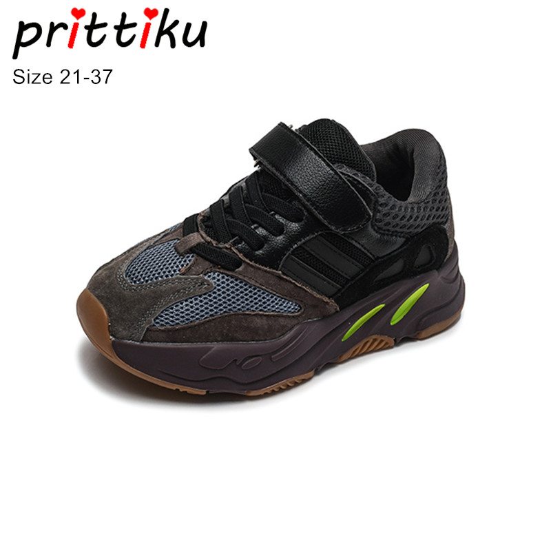 Autumn 2018 Toddler Boys Girls Genuine Leather Mesh Brand Sneakers Little Kid School Student Trainers Big Children Casual Shoes soccer shoe toddler little kid big kid synthetic leather upper rubber soles 31 44casual outdoor indoor light weight running